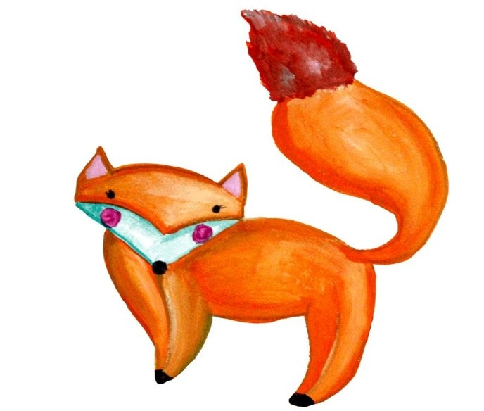 Illustration with a fox