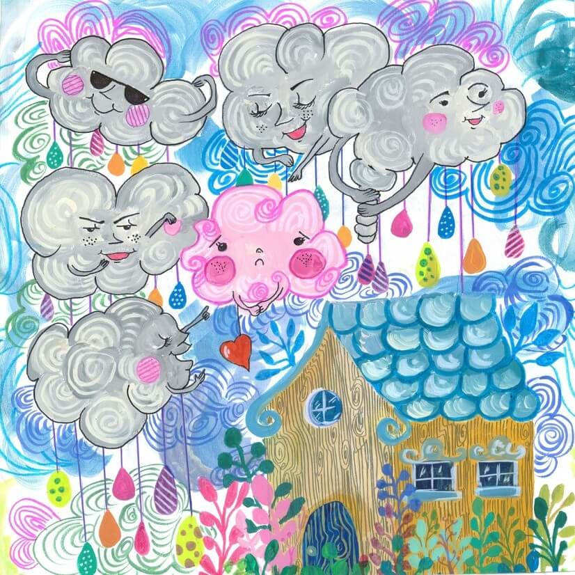 Illustration The Pink Cloud
