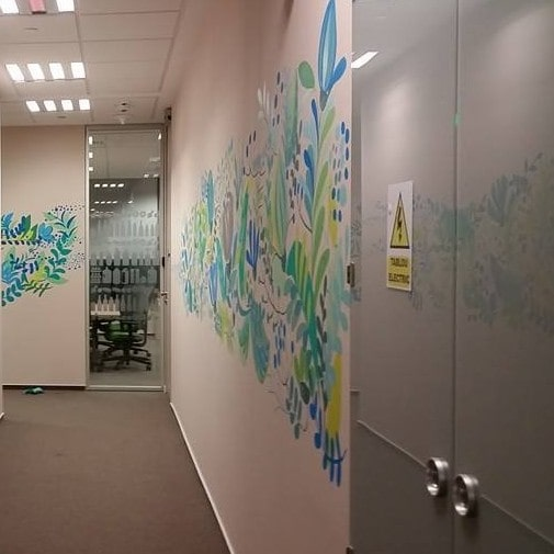 Mural painting office